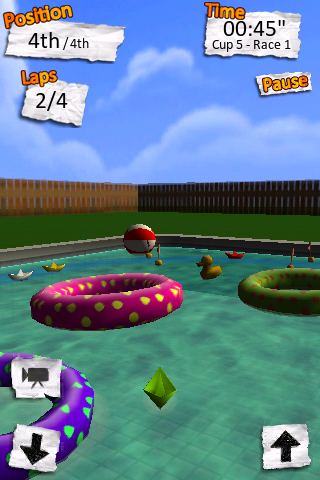 Screenshot Paper Boat Race